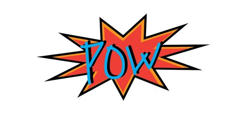 pow  sound effect  comic book style