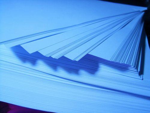 Powder Blue Ream Of Paper