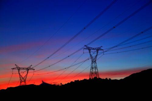 power sunset twilight