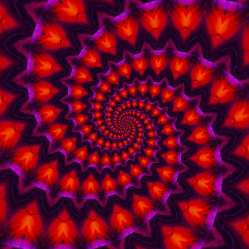 power spiral kaleidoscope