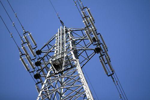 power line high-voltage line tower
