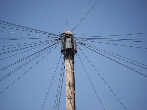power line energy village