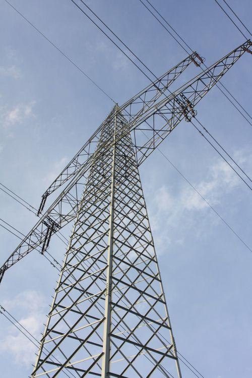 power line energy strommast