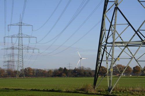 power line  strommast  energy