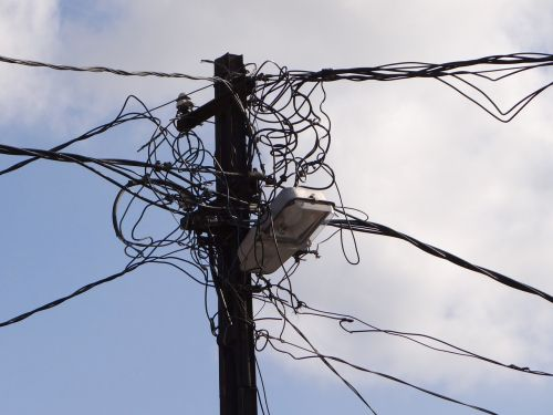 power line clutter cable salad