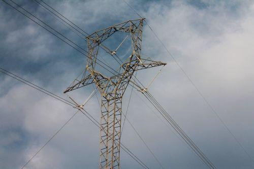 power lines sky electricity