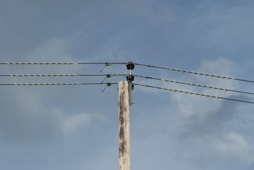 power lines telegraph sky