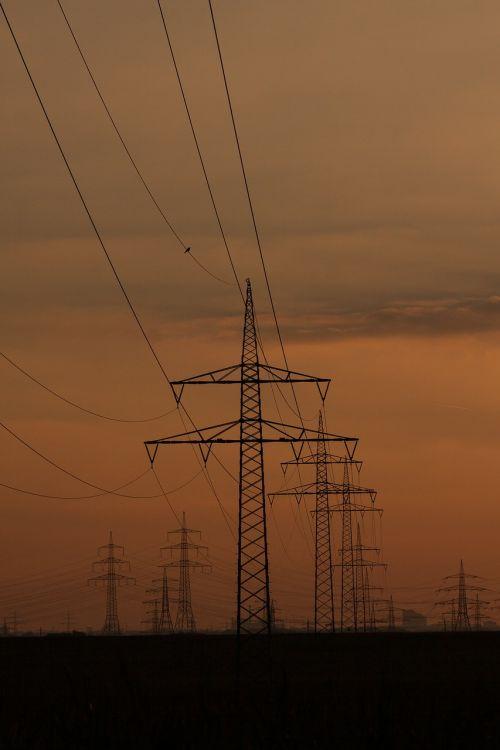 power lines pylons power poles