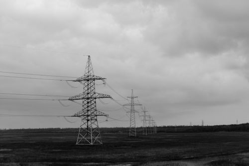 power lines hydro electrical