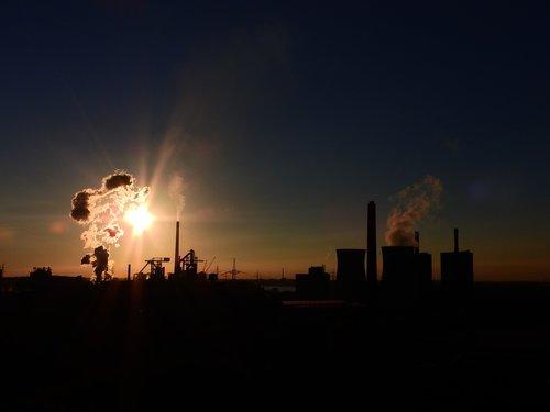 power plant  industry  chimney