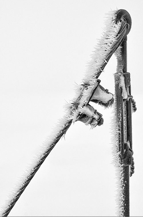 power poles winter cold
