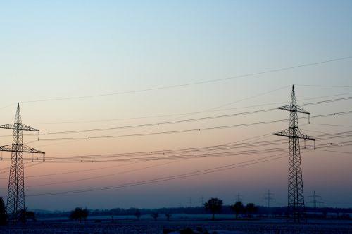 power poles power line current