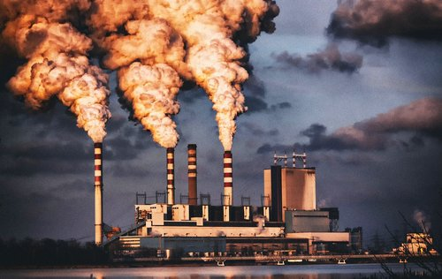 power station  combined heat and power plant  chimneys