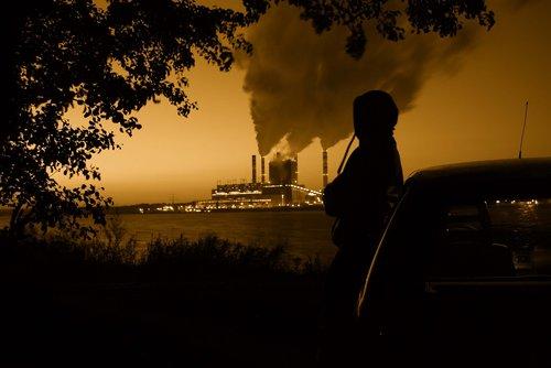 power station  smoke  character