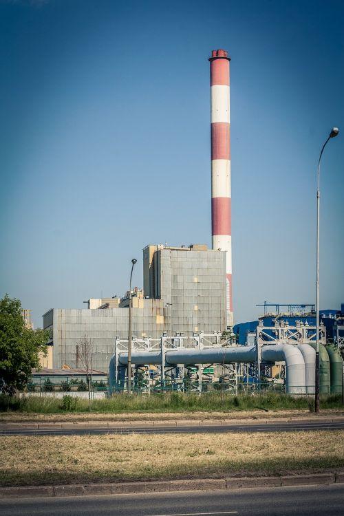 power station chimney sky