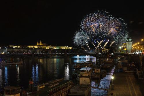 prague prague castle fireworks