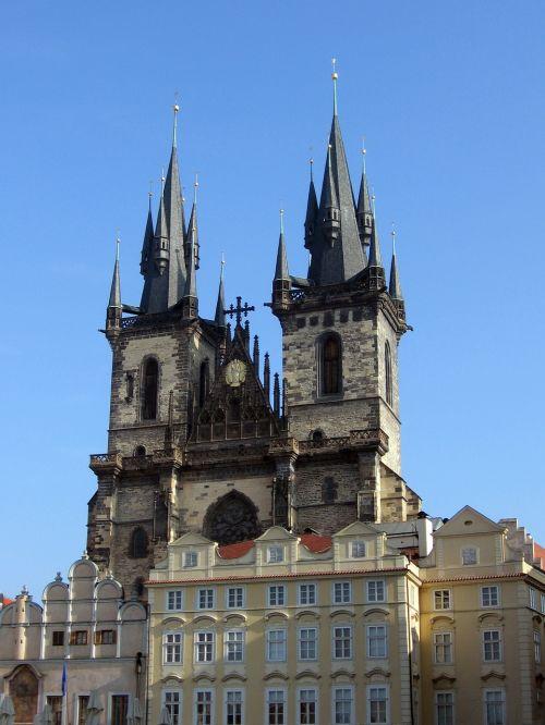prague týn church church steeples