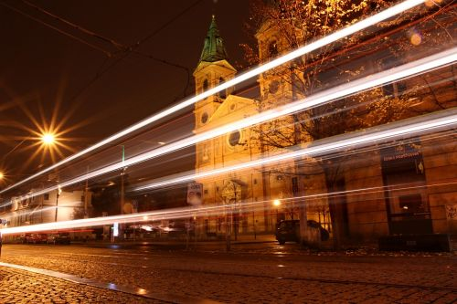 prague city night