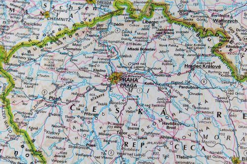 prague czech republic map