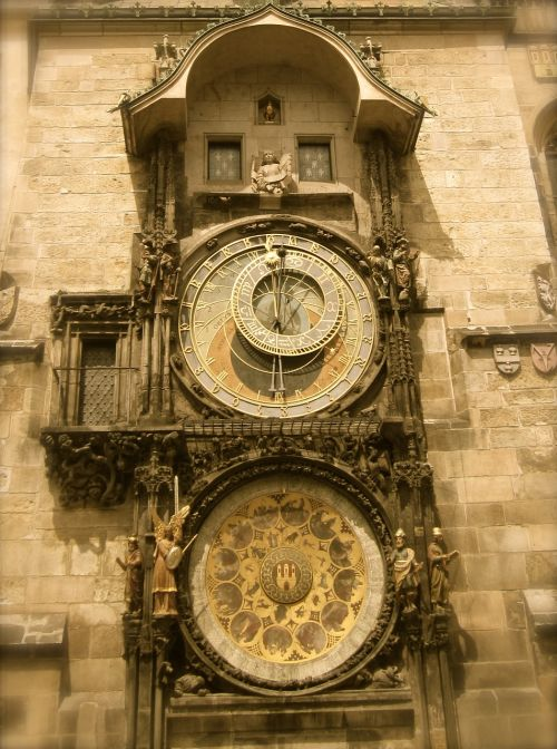 prague czech republic clock