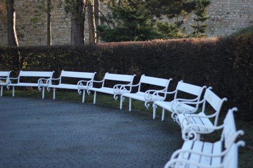 prague benches white