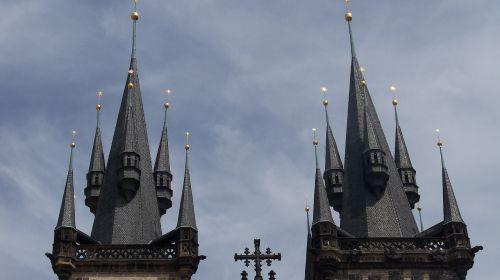 prague church spires