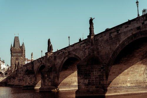 prague  bridge  river