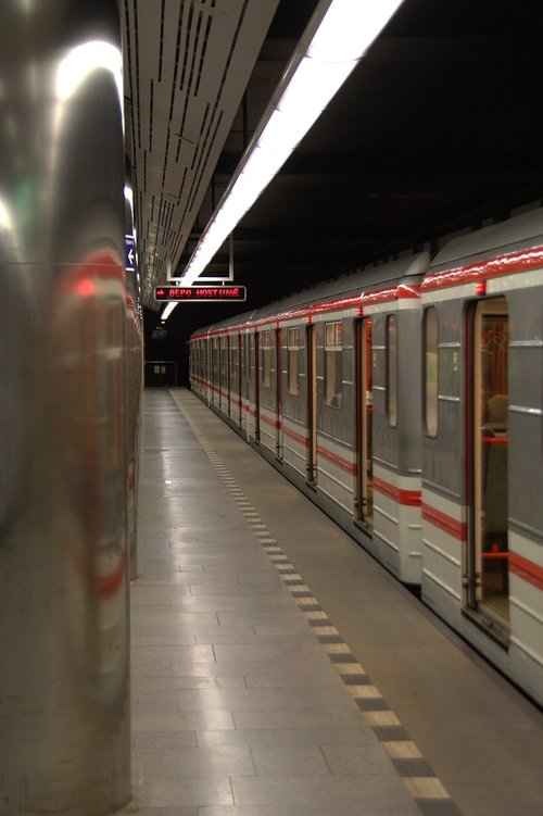 prague  metro  railway station