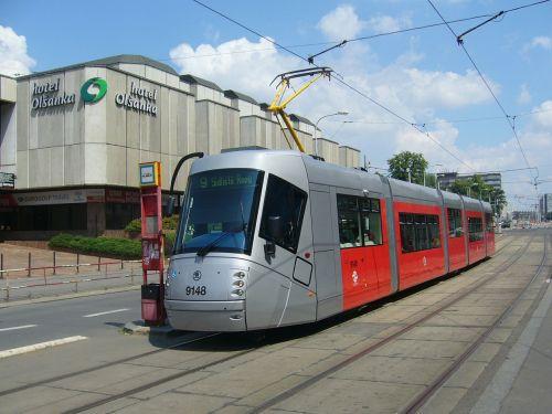 prague the tram skoda