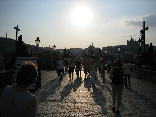 prague charles bridge czech republic