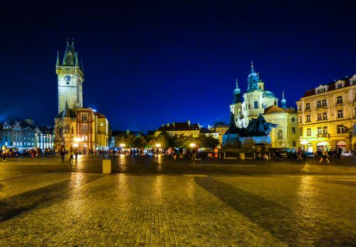 prague, čekų, kelionė, miestas, Praha, Europa, architektūra, senas, Miestas, senas miestas & nbsp, kvadratas, prague naktį
