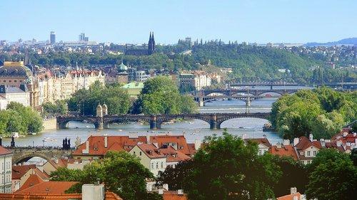 prague bridges  bridge  vltava
