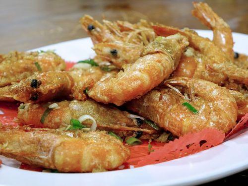 prawns shrimps fried