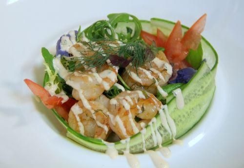 prawns salad seefood