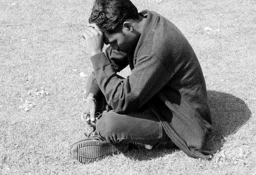 prayer contemplation man