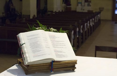 prayer book altar church