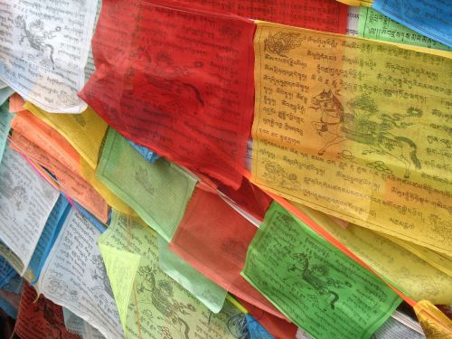 prayer flags tibetan color
