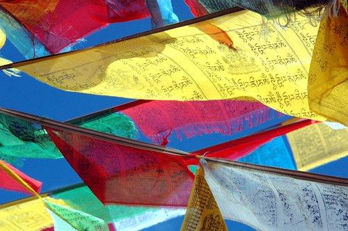 prayer flags  tibet  budism