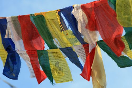 prayer flags buddhism nepal