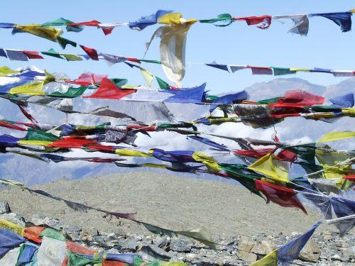 prayer flags himalayan nepal
