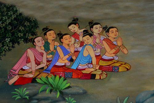 praying meditation buddha