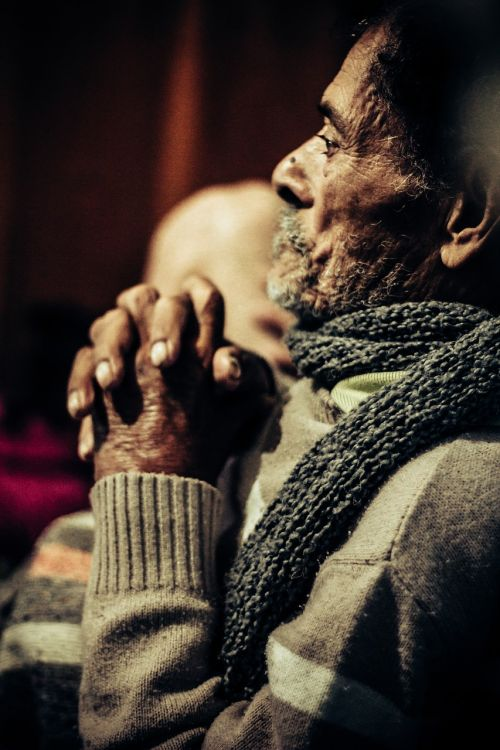 praying elderly mr