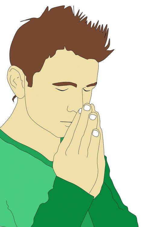 praying man prayer young