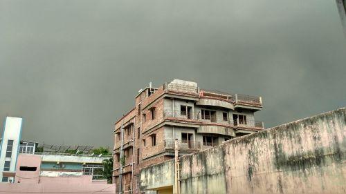 pre monsoon sky dark