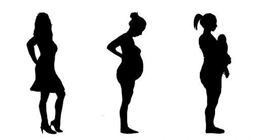 pregnant pregnancy silhouette