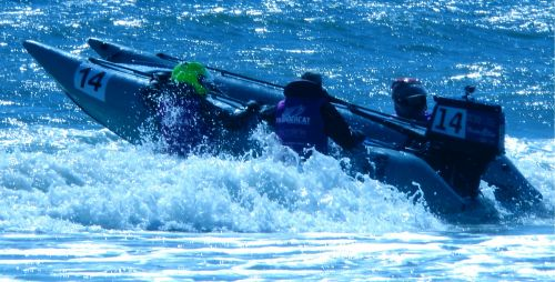 Preparing For Powerboat Race