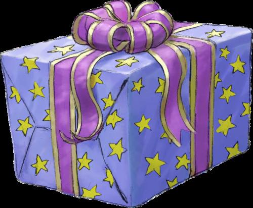 present gift purple