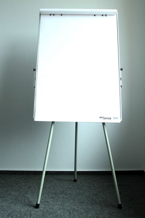 present flipchart board