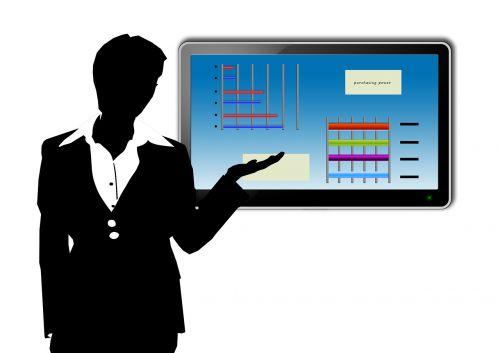 presentation eboard woman