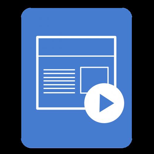 presentation icon app application